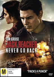 Jack Reacher 2: Never Go Back on DVD image