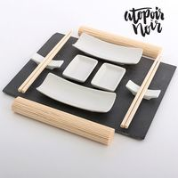 Atopoir Noir: Sushi Set With Slate Tray (11pc)