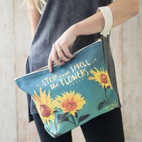 Natural Life: Canvas Carryall - Smell the Flowers