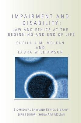 Impairment and Disability by Sheila Mclean