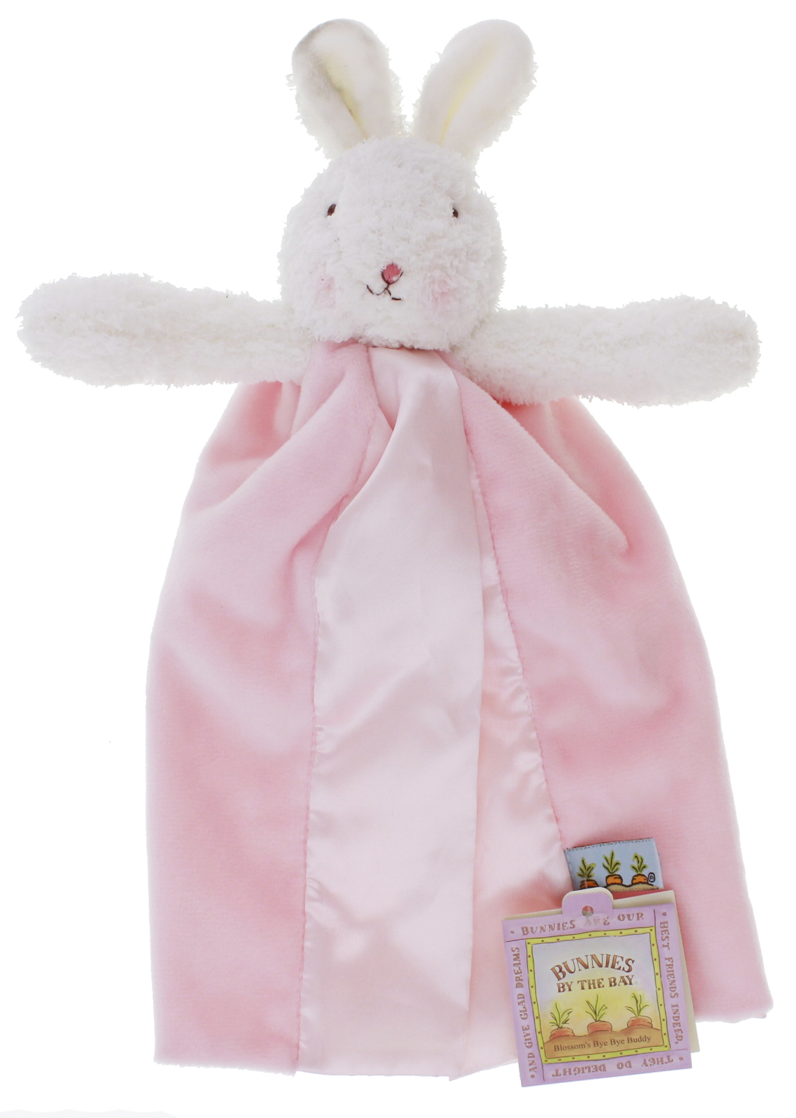 Pink Bunnies By The Bay Bye Bye Buddy Blanket Blossom Bunny