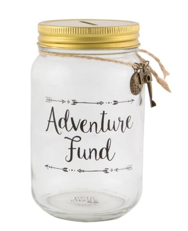 Wanderlust Adventure Fund Jar Money Box