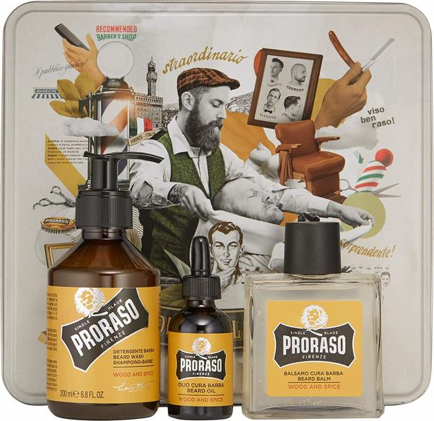 Proraso: Wood Spice Beard Care Gift Set in Tin Box