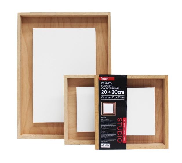 Jasart: Framed Floating Canvas Panel (20x40cm)