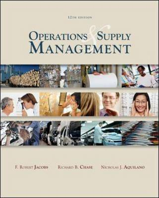 Operations and Supply Management by Richard B. Chase image