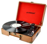 mBeat Retro Briefcase USB Turntable