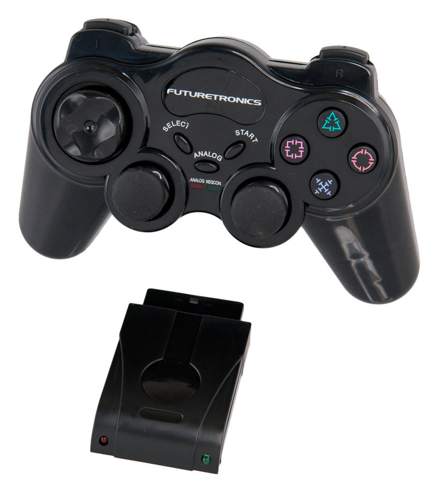 Futuretronics Wireless Controller - Black for PlayStation 2 image