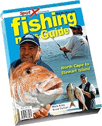 Fishing News Map Guide New Zealand: Boat fishing, surfcasting, freshwater fishing, diving and gamefishing by DUNCAN