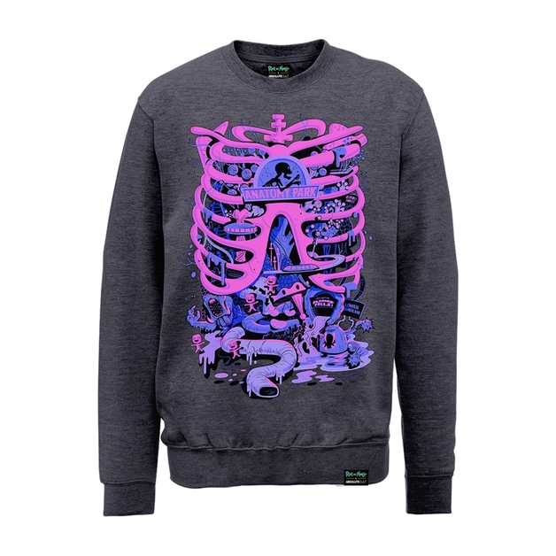 Rick and Morty: Anatomy Park Sweatshirt (Small) | Men\'s | at Mighty ...