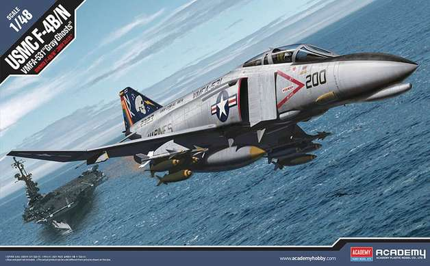 Academy 1/48 USMC F-4B Gray Ghost - Scale Model