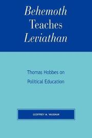 Behemoth Teaches Leviathan by Geoffrey M. Vaughan