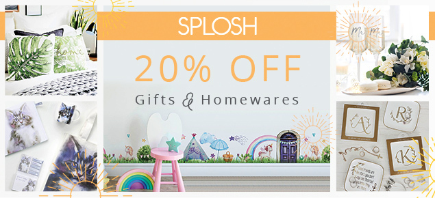 20% off Splosh Gifts & Homewares!