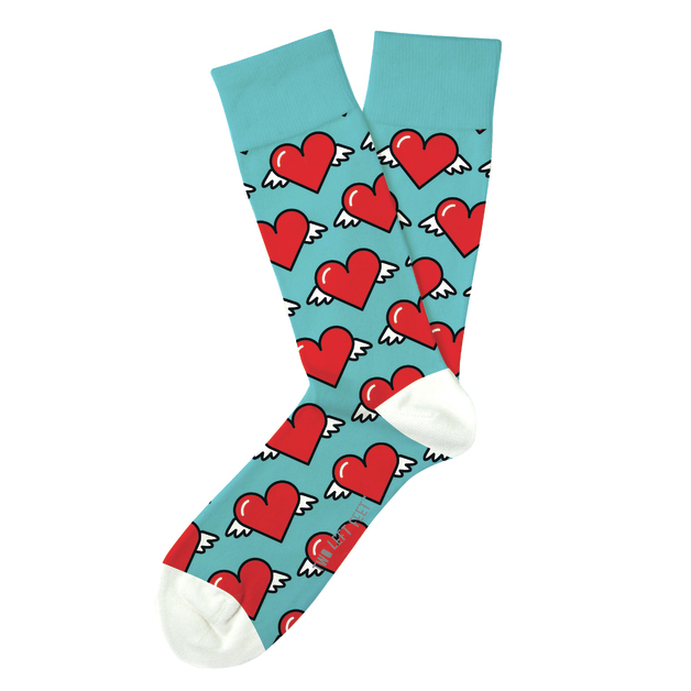 Two Left Feet: Love is in the Air Everyday Socks - Small