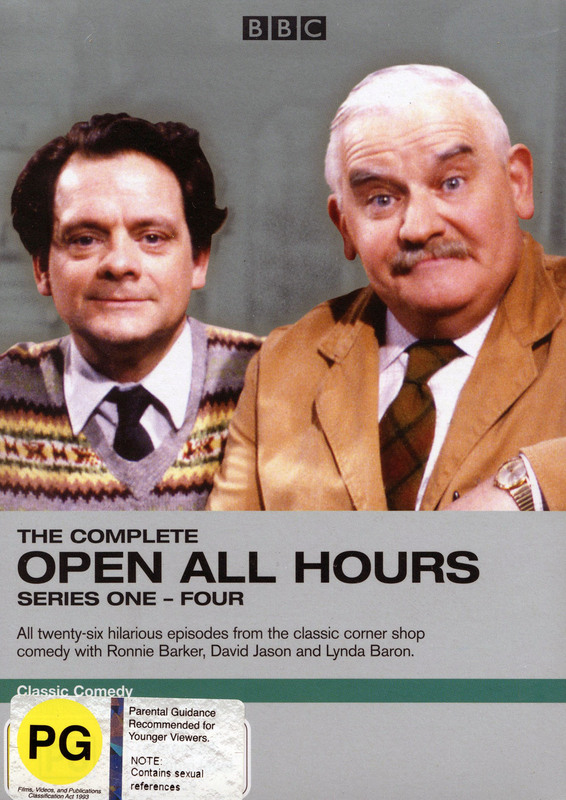 The Complete Open All Hours - Series 1-4 (4 Disc Set) on DVD