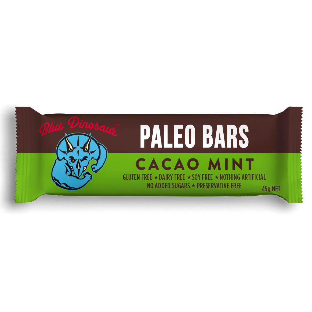 Blue Dinosaur Paleo Bars - Cacao Mint (12 Bars) image