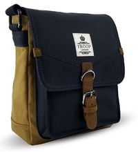 Troop London: Rutherford Body Bag - Camel & Navy