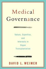 Medical Governance by David L. Weimer