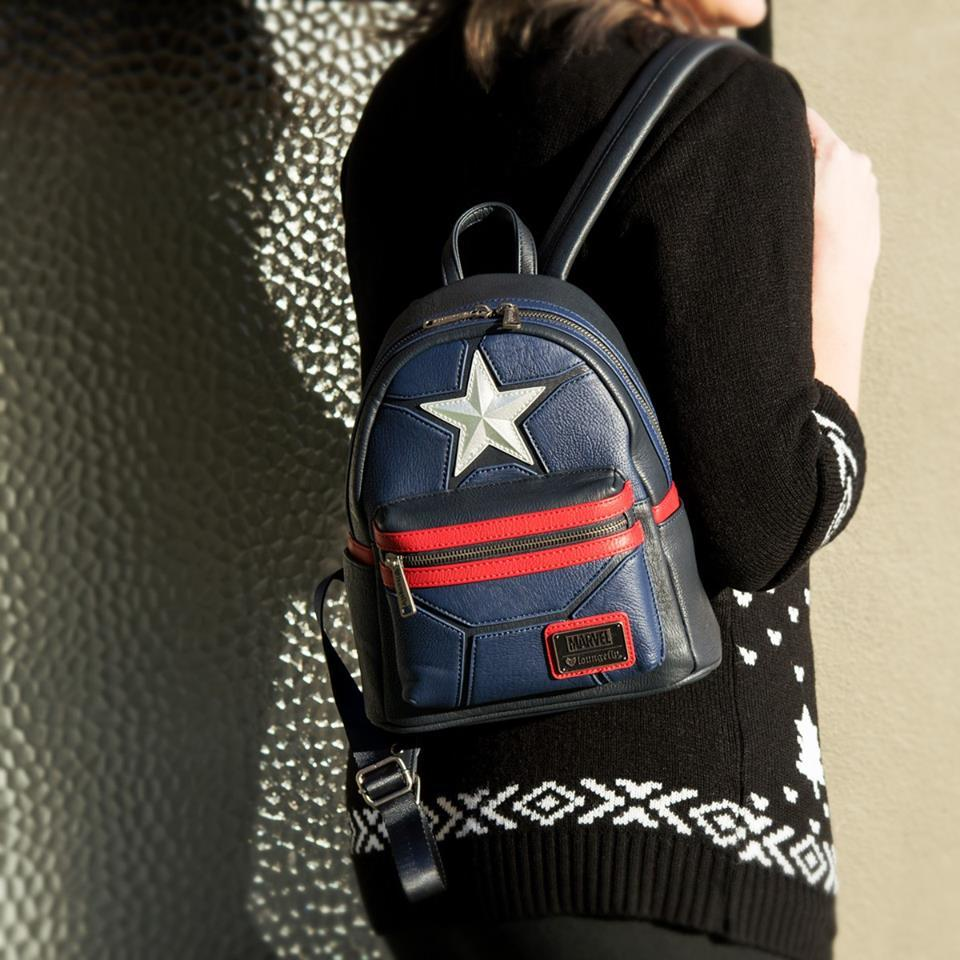 ... Loungefly  Marvel Captain America - Mini Star Backpack image ... 00cc593c30b75