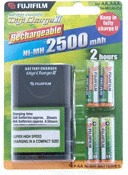 Fujifilm Battery Charger NiMH Battery Charger Suitable for: AA NiMH Rechargable Batteries Includes 4 Batteries