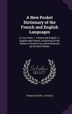 A New Pocket Dictionary of the French and English Languages by Thomas Nugent image