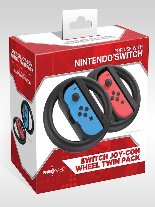 Powerwave Switch Joy Con Wheel Twin Pack for Nintendo Switch