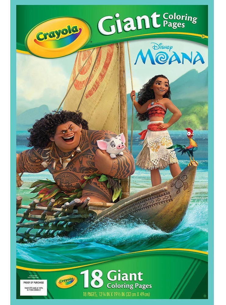 Crayola: Color Giant Coloring Pages - Disney Moana image