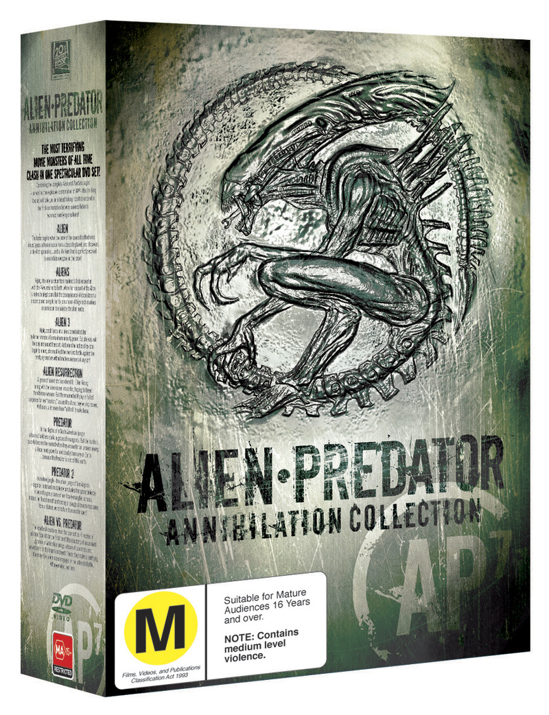 Alien and Predator Annihilation Collection (7 Movie Box Set) on DVD image