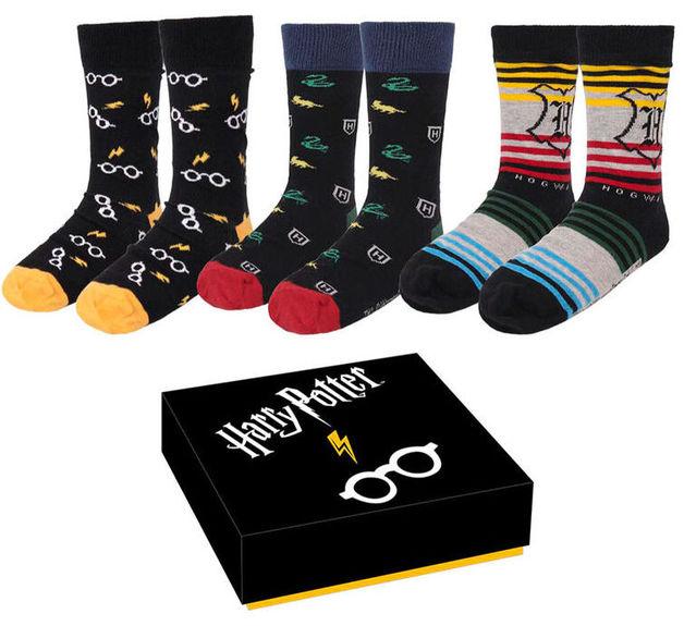 Harry Potter: Mens Socks 3-Pack - (Size: M)