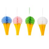 Paper Honeycomb Ice Creams - (Set Of 4)