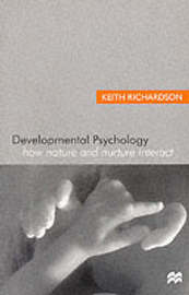 Developmental Psychology by Keith Richardson image