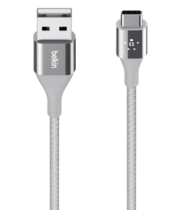 MIXIT↑ DuraTek USB-C to USB-A Cable - Silver image