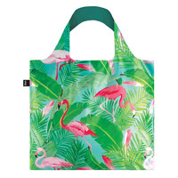 Loqi: Shopping Bag Wild Collection - Flamingos