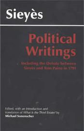 Sieyes: Political Writings by Emmanuel Sieyes image