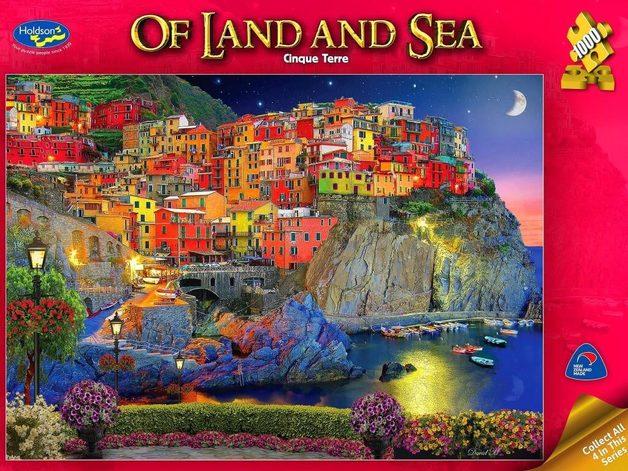 Holdson: 1000 Piece Puzzle - Of Land & Sea (Cinque Terre)