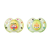 Closer to Nature Fun Style Soother: 0-6 Months (Yellow Robots)