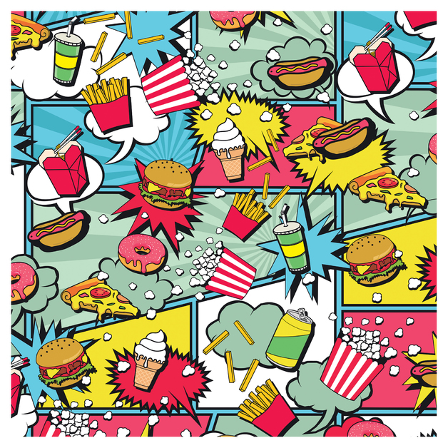 SKINZ: Designs Book Cover - Food (45cm x 1m)