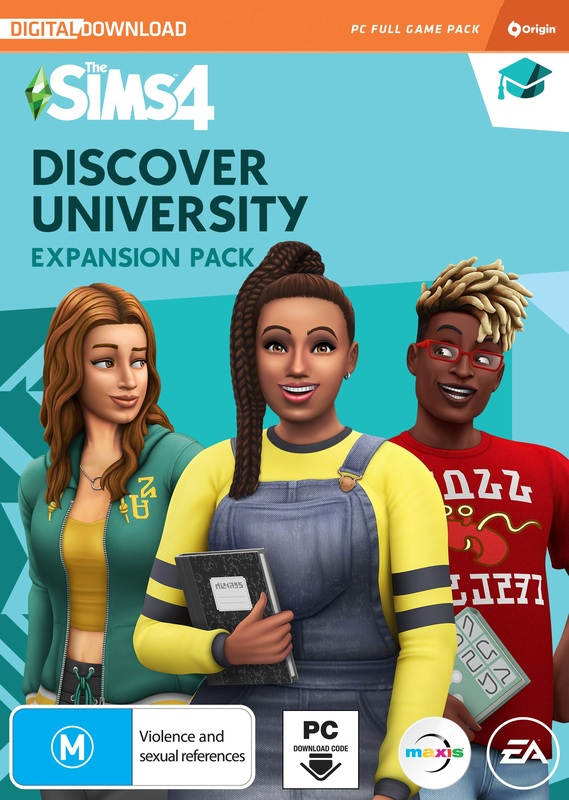 The Sims 4 Discover University (code in box) for PC
