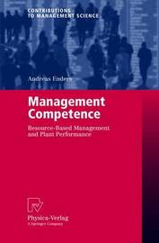 Management Competence by Andreas Enders