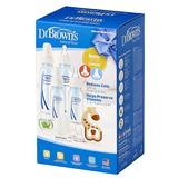 Dr Brown's Gift Set - 4 Bottles, Pacifier, Teether, Bottle Brush (Blue)