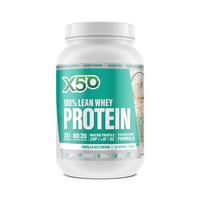 Green Tea X50: 100% Lean Whey Protein - Vanilla Ice Cream (1kg) image