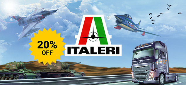 Save 20% off Italeri Kits!