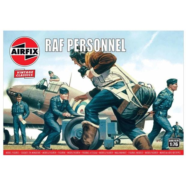 Airfix 1:76 WWII RAF Personnel Scale Model Kit image