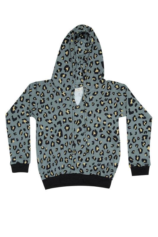 Zuttion Kids: Leopard Sweater Hoodie - 9-10