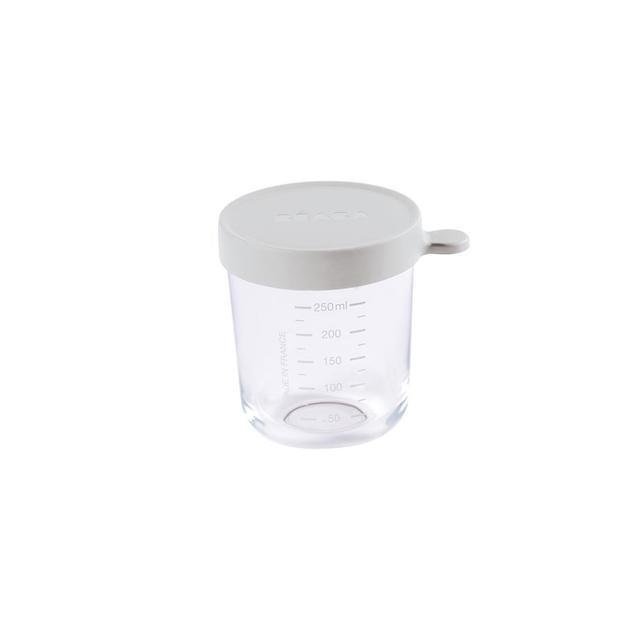 Beaba: 250 ml Conservation Jar Glass - Light Grey