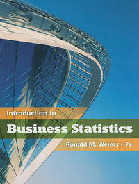 Introduction to Business Statistics (with Bind-In Printed Access Card) by Ronald M Weiers image