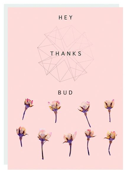 Fireweed: Hey Bud Foil Thank You Greeting Card