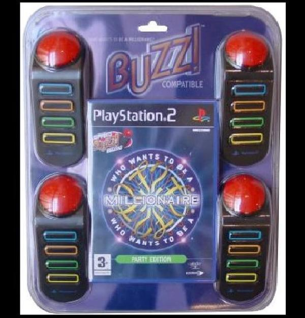 Who Wants to be a Millionaire with 4 Buzzers for PS2
