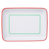 Sunnylife Enamel Plate - Green and Coral