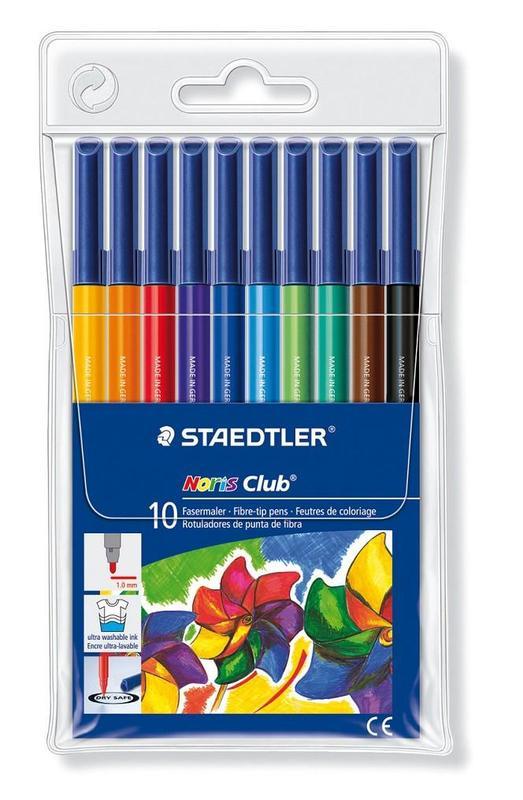 Staedtler Fibre Tip Pens Wallet of 10