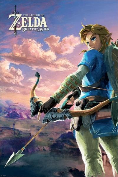Zelda Breath Of The Wild Maxi Poster - Hyrule Scene (609) image